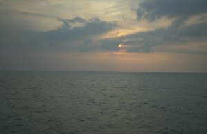 View from the Ross Revenge - an empty sea