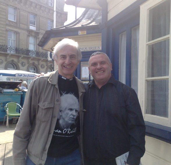 Myself with Roger Day and his Ronan O'Rahilly T-shirt!