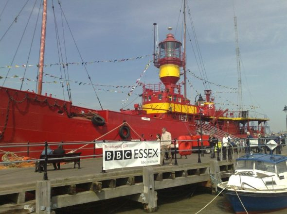 Pirate BBC Essex from the LV18, seen on Good Friday
