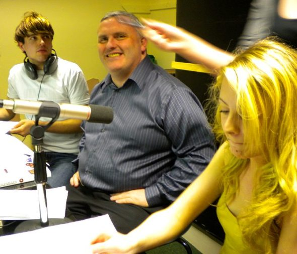 Rathmines College Radio 97.3fm - with Robert O'Connor and Jessica Riley interviewing me on the Drive programme