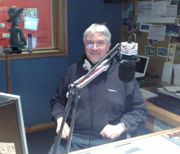 Geoff Rogers in the Jackie studio, April 2009