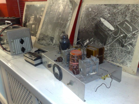 Old equipment from the days of transmitting from the fields