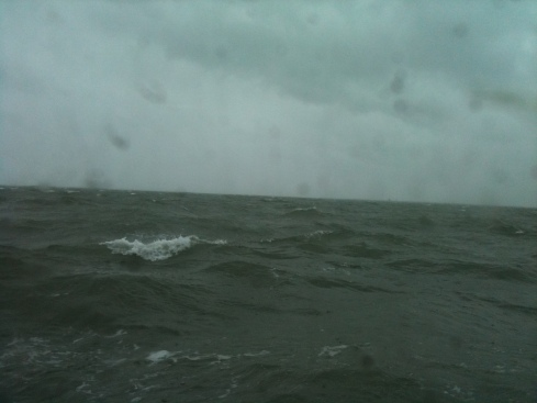 A cold wind, and a lumpy sea - slight to moderate in nautical terms.