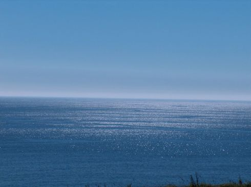Blue sky, blue sea, an unlimited horizon on the Atlantic.