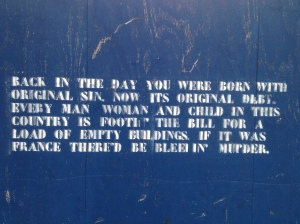 . . and on a hoarding in Dublin Docklands.