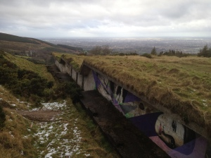 Abandoned army firing range in the Dublin Mountains . . with interesting artwork
