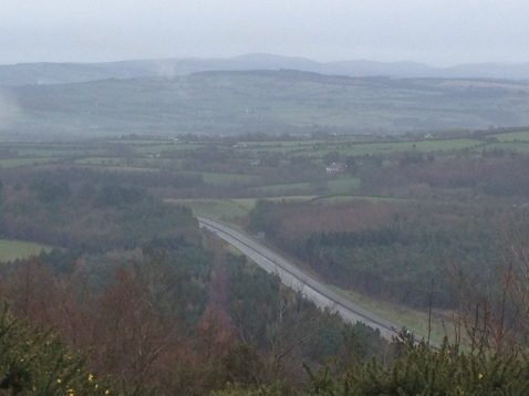 ". .and from the hilltop could now look down at the Dublin to Cork road far below. No longer down there thinking ""Maybe one day""."