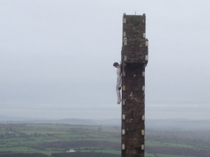 For nearly 50 years as I haved travelled toe Dublin to Cork road I have always looked at the steep wooded hillside outside Fermoy, with what looked like a stone cross on top. This year I stopped and climbed it . . and it's higher up, and the cross far bigger than I realised.