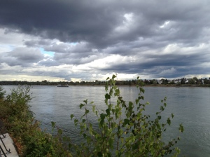 Another river walk, this time The Rhine in Germany, yeilds an especially moody sky.