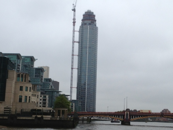 The Tower, One St George Wharf under construction in November 2012