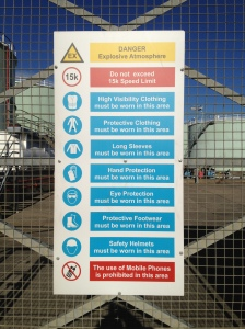 On the subject of warning notices, this one in Dublin Docklands is pretty comprehensive. Is there anything you ARE allowed to do?
