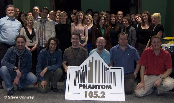 Phantom 105.2 staff just before launch, October 2006 (Steve Conway)