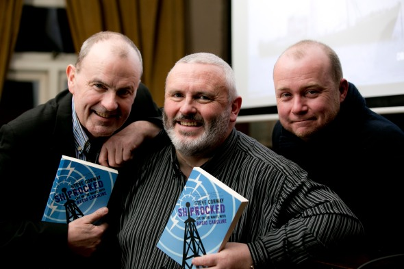 (left to right) Gareth O'Callaghan, Steve Conway, and Liberties Press MD Sean O'Keefe